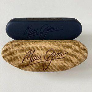 2 Maui Jim Small Hardshell Clam Sunglass Cases